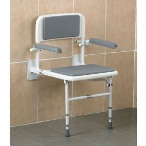 Fold Down Shower Seat with Arms Legs & Backrest