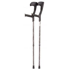 Forearm Crutches - Black And White Multi Pattern