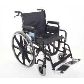 Folding Heavy Duty Extra Wide Steel Wheelchair (With Attendant Brakes) - 20