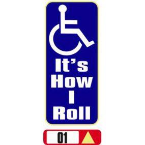 Sticker Haus Its How I Roll sticker no 1