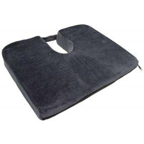 Restwell Velour Cover Wedge Cushion - Blue (18x14x3