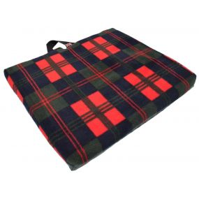 Harley Coxxyc Cut-out Ease Cushion - Tartan (17x17x2
