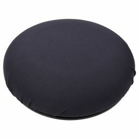 Shine Smooth Fabric Cover Turning Ring Cushion - Navy (16x4