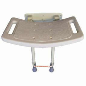 Wall Mounted Shower Seat With Legs - Steel