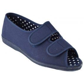 Fern-Twin Velcro Shoe Navy (Size 7 )