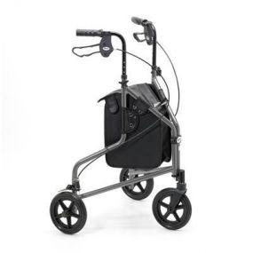 Lightweight Aluminium Folding Tri Walker (With Bag) - Graphite