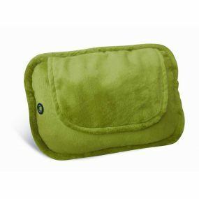 4 Ball Shiatsu Heated Cushion with Green Plush Cover