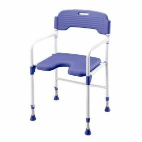 Folding Shower Chair - PU Seat
