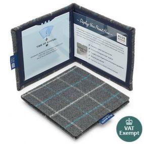 Cloth Blue Badge Wallet - Bamburgh Azure
