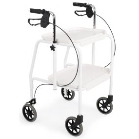Combination Trolley Walker - White