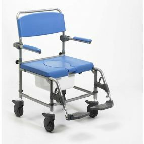 Shower Commode Chair Wheeled Wide Attendant Propelled - 20