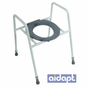Skandia Raised Toilet Seat and Frame with Clip on Seat