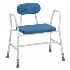 Deluxe Bariatric Perching Stool - Tubular Arms & Back