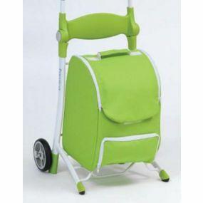 Shop N Sit Trolley  - Green & White