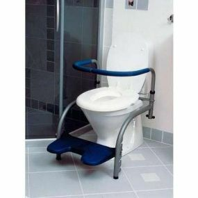 Svan Balance Toilet Frame - Frame, Straight Armrests, Footrest, Grab Rail