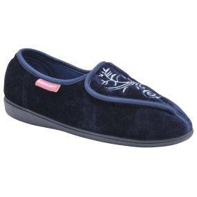 Ladies Elena Slippers - Size 4 (Navy)