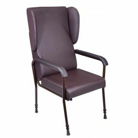 Adjustable High Back Chair - With Padded Arms and Wings