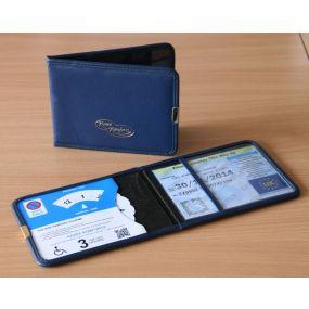 Plastic Blue Badge & Timer Wallet - Blue