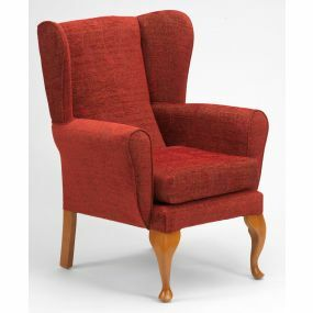 The Queen Anne High Seat Chair - Crimson