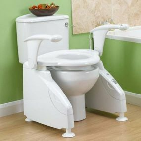 Solo Toilet Lift / Raiser - With Dual Arm (Right Switch)