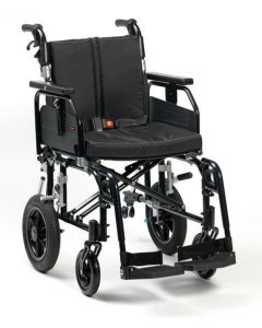 Super Deluxe 2 Alu Wheelchair - Black 18 Inch Transit